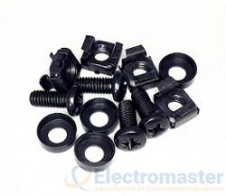 Cage Nuts & Bolts pk50