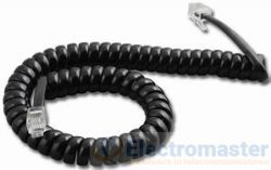 Black Handset Cord 2.5m (8ft) CHX