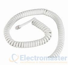 White Handset Cord 7.6m (25ft) CHR