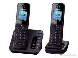 KX-TGH222EB Dect Cordless Phone with Two Handsets & Answering Machine